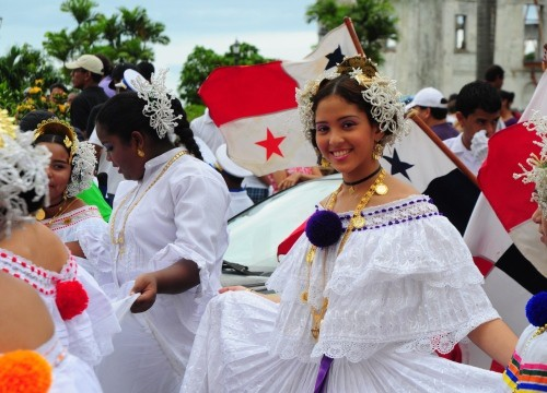 Панама. Праздник национального флаг