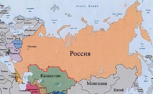 Рис. 1. Границы России