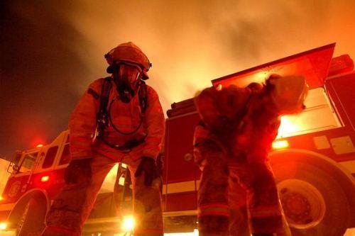 Работа современных пожарных