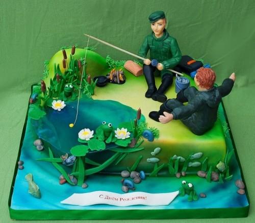торт на день рыбака фото