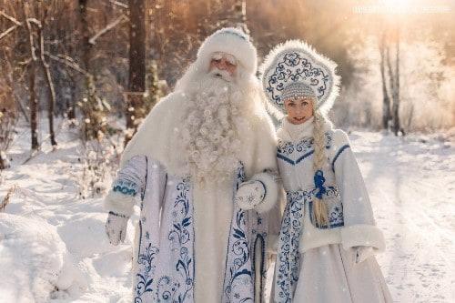 Русский Дед Мороз и Снегурочка