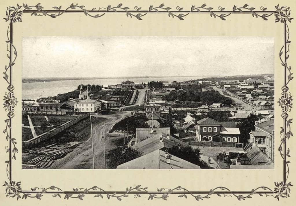 Рисунок 2. Вид на город со Средней горы, 1904 г.
