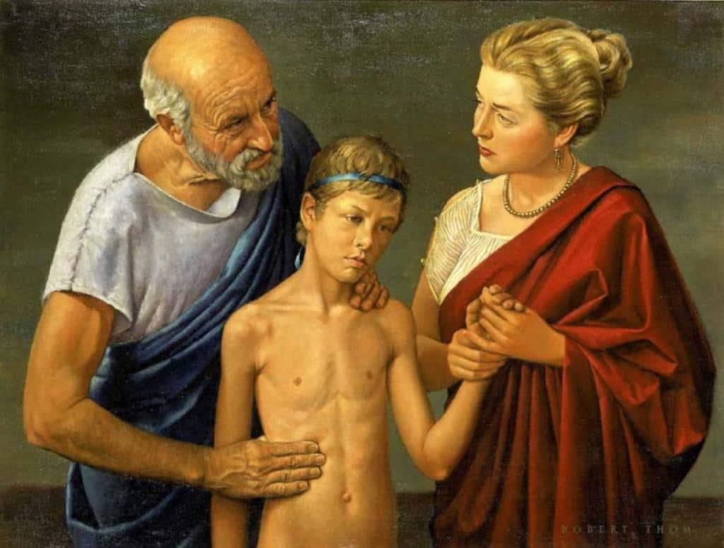 Рисунок 1. Гиппократ и больной мальчик