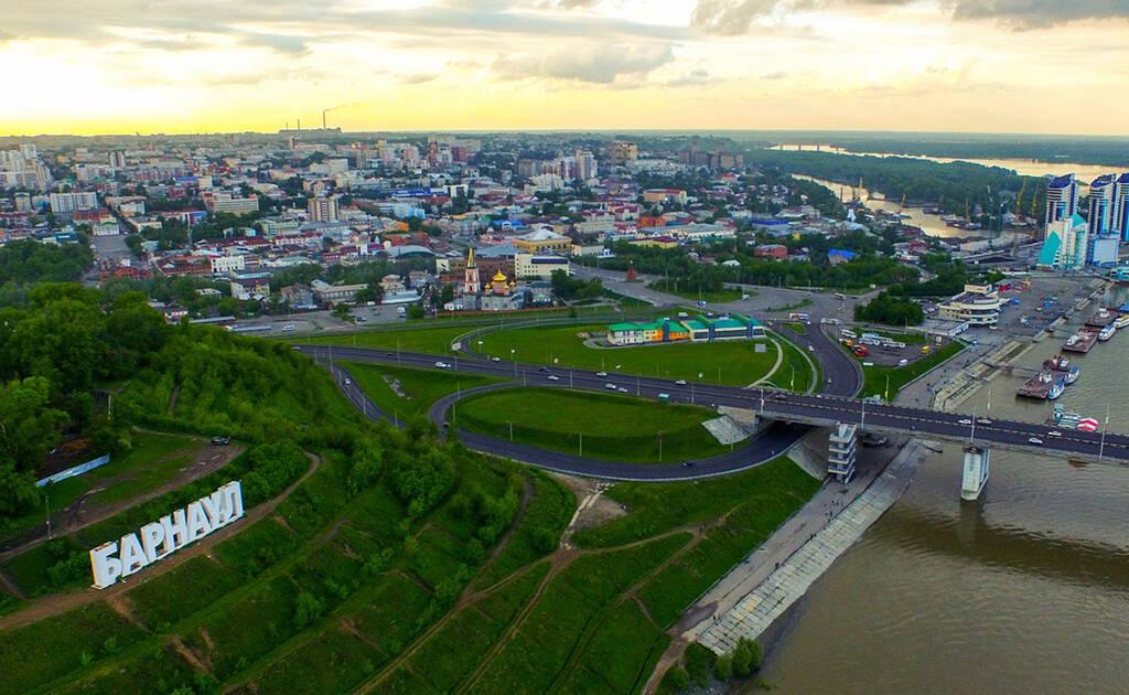 Рисунок 1. Вид на Барнаул с высоты