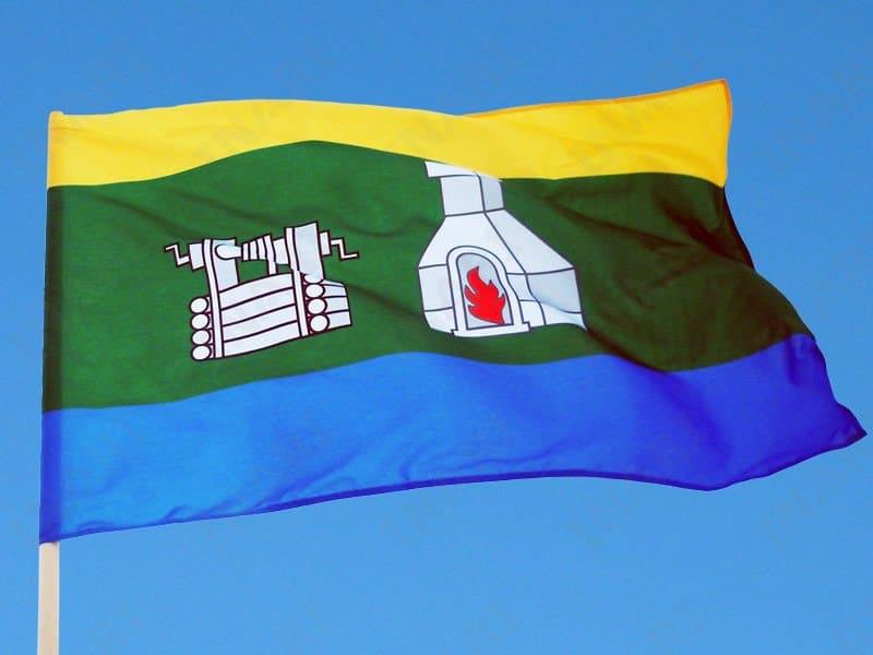 Рисунок 1. Развевается флаг Екатеринбурга