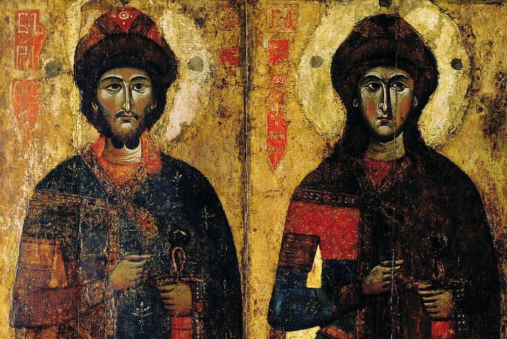 Рисунок 4. Борис и Глеб – первые святые, канонизированные русской православной церковью