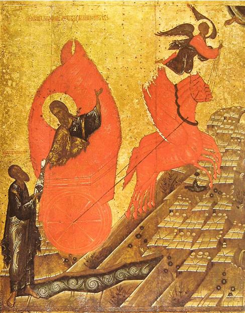 Рис. 2. Вознесение пророка Ильи на небо