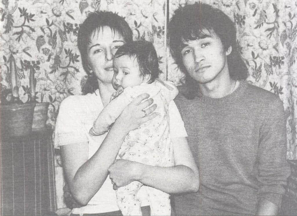 Рисунок 2. С женой и сыном