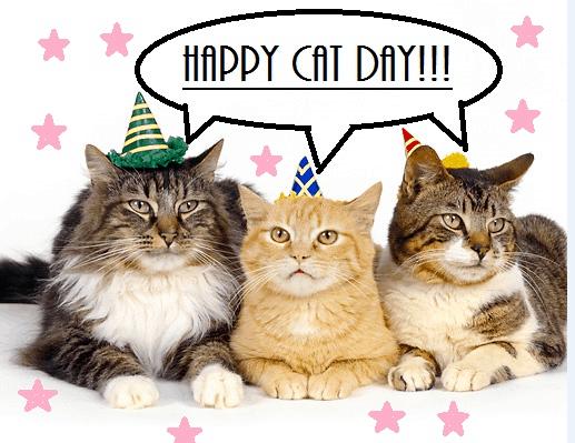 Рисунок 3. Поздравление с Всемирным днём кошек