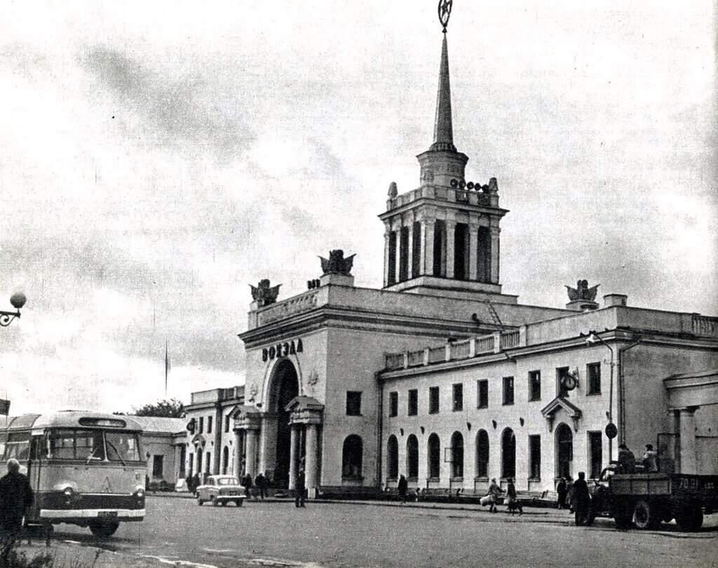 Рисунок 3. Здание старого вокзала, фотография 1966 года