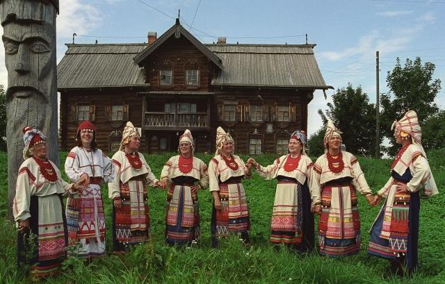 Рисунок 3. Представители народа вепсы (Ленинградская область)