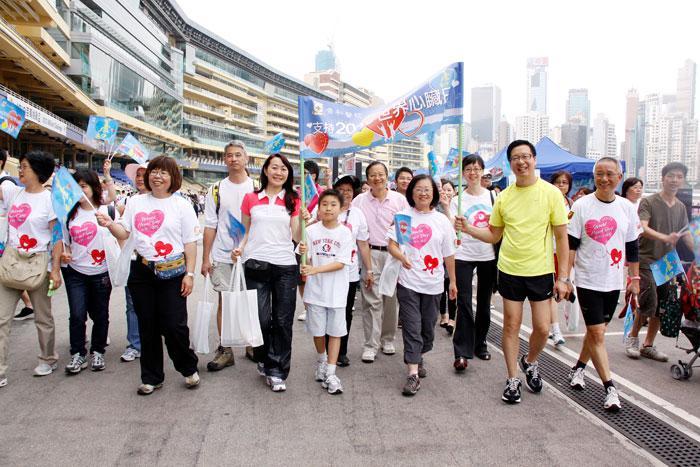 Рис. 3. World Heart Day – 2010 г. Гонконг. Шествие работников санатория и больницы