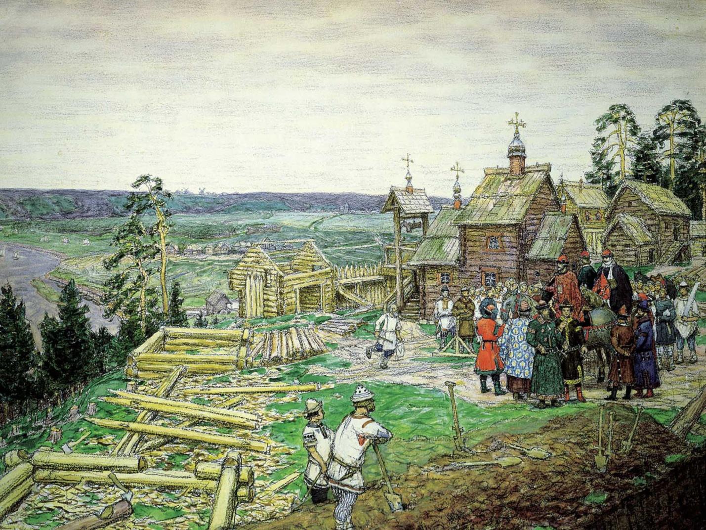 Рис. 3. Картина А. Васнецова «Основание Москвы»