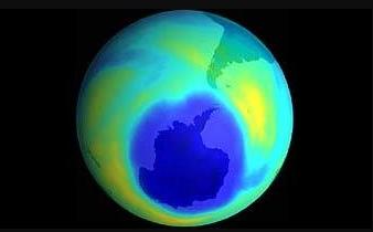 Рис. 1. Озоновая дыра над Антарктидой